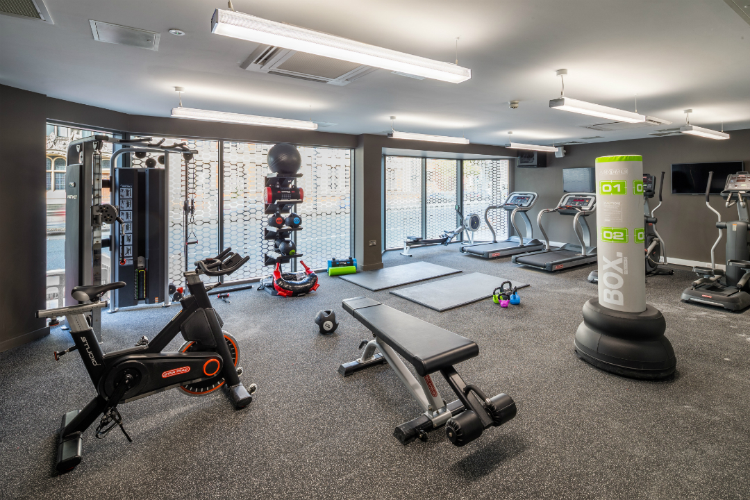 Gym at The Fitzalan Cardiff