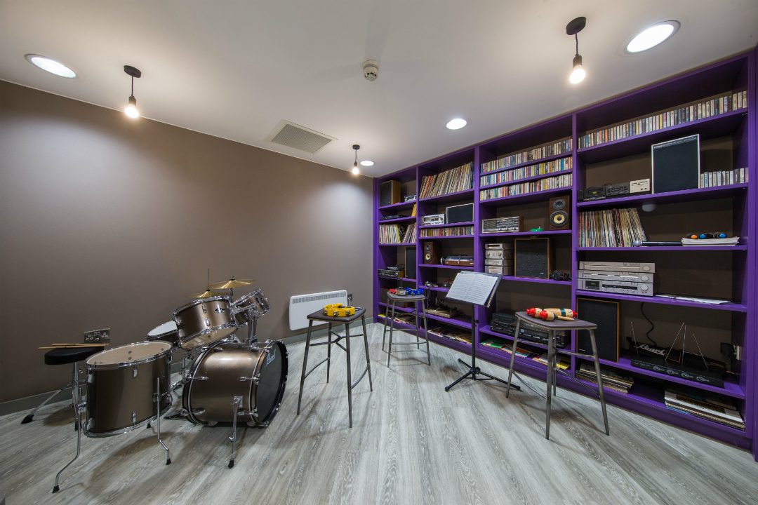 Music room at The Fitzalan Cardiff