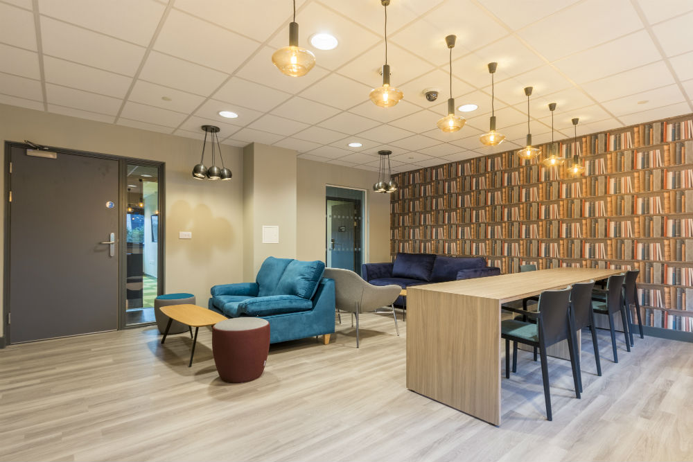 Private study room at Lumis Student Living Cardiff