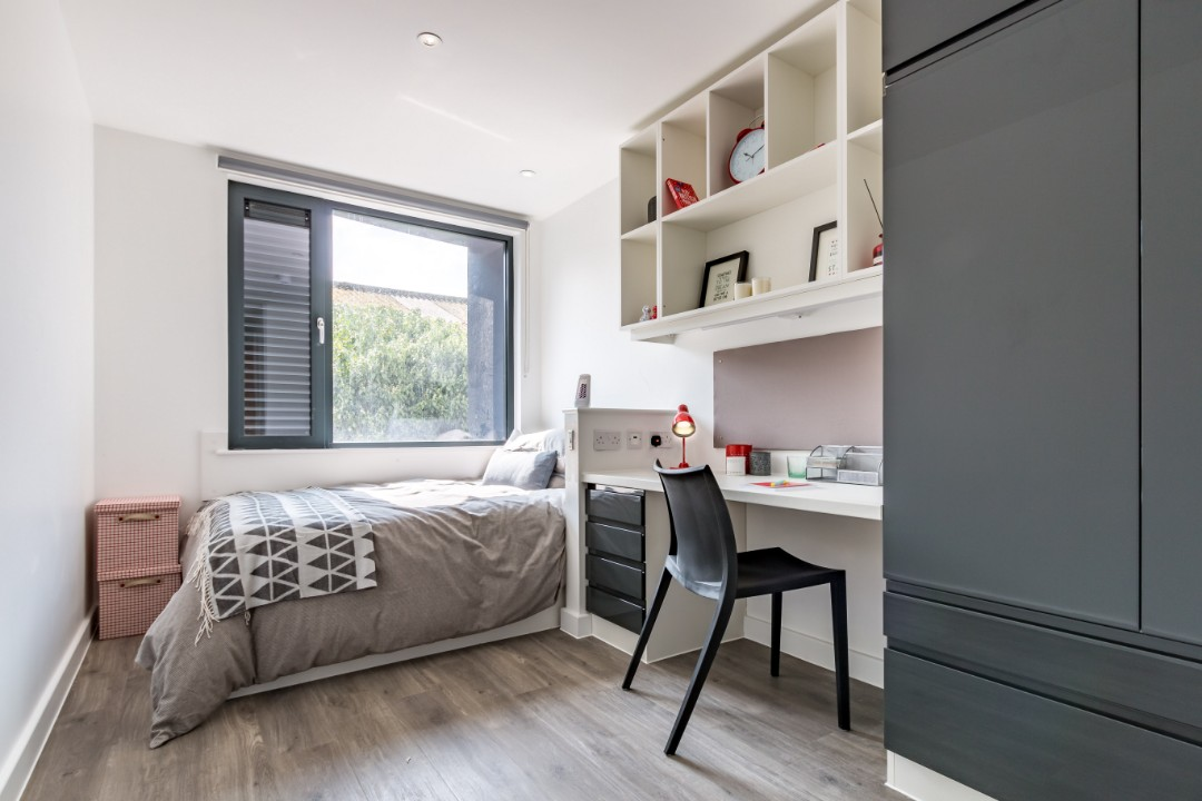 An en-suite in Palamon Court, student accommodation in Canterbury