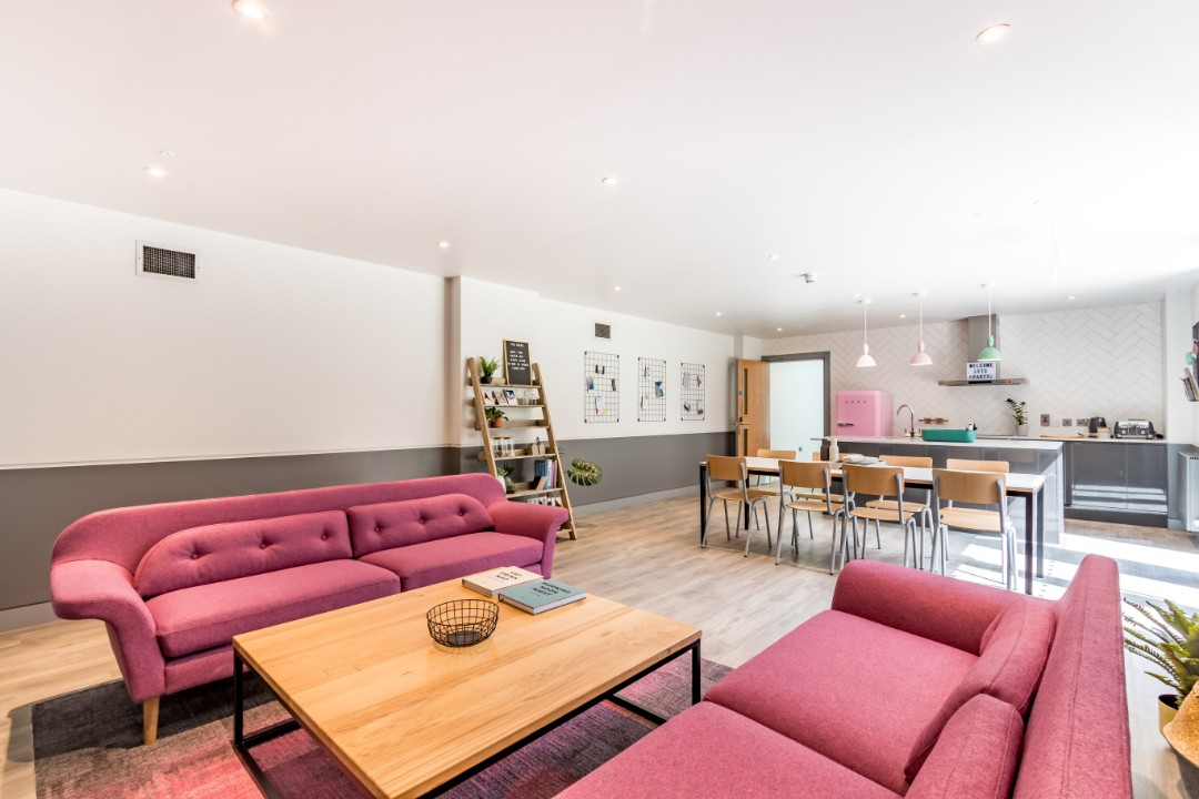 A kitchen in Palamon Court, student accommodation in Canterbury