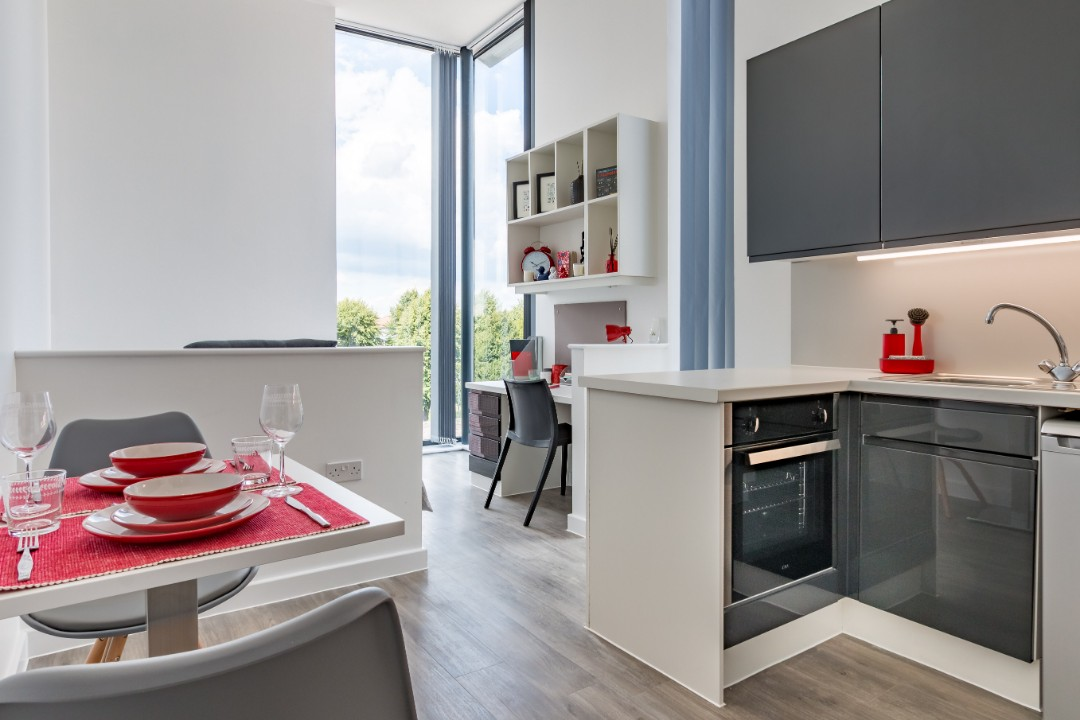 A studio in Palamon Court, student accommodation in Canterbury