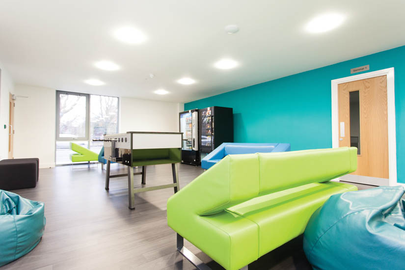Common room at Ropemaker Court Manchester