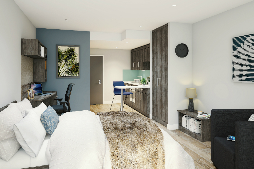 Studio room at Crown Place Portsmouth