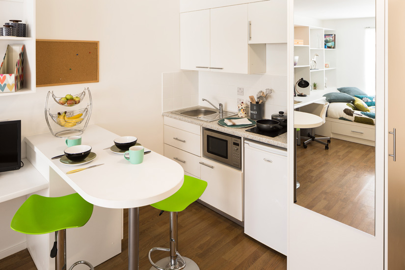 Studio kitchen at St Augustine's House Plymouth