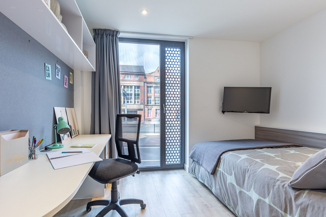 Studio room at Lumis Student Living Leicester