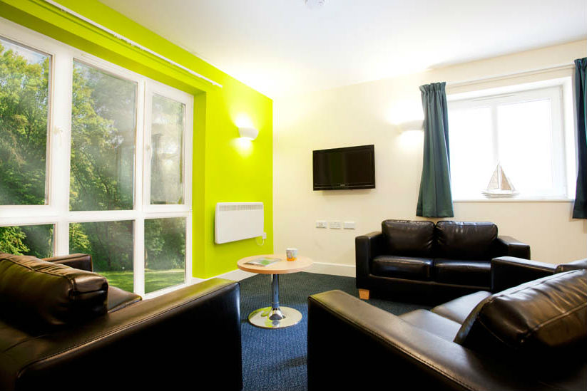 Common room at The Sidings Penryn