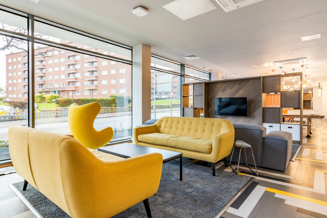 Communal area at ViBe Student Living