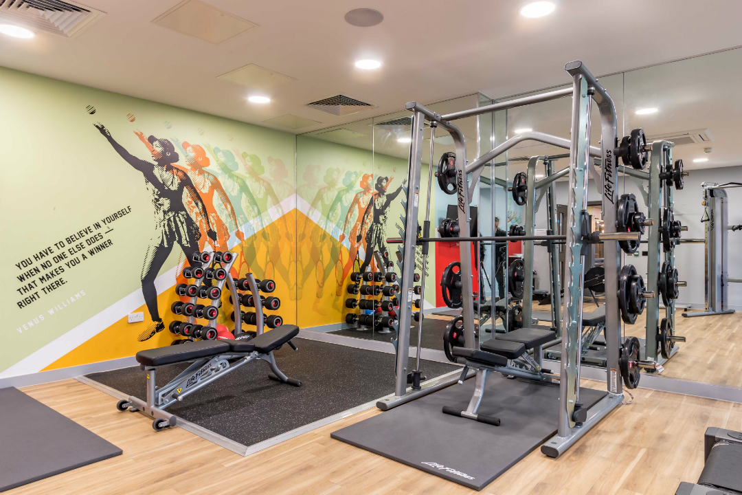 Gym at ViBe Student Living