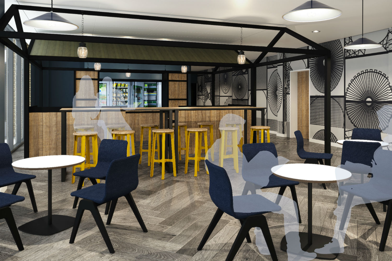 Basement Servery at Crown Place Norwich