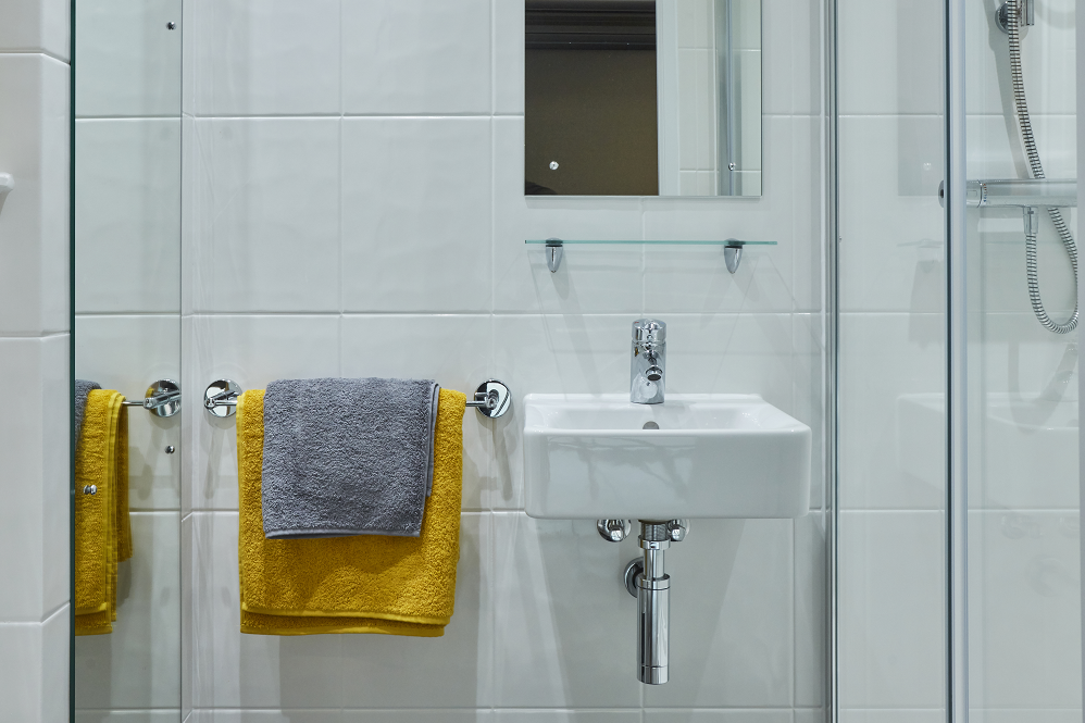 Bathroom at Crown Place student accommodation in Norwich