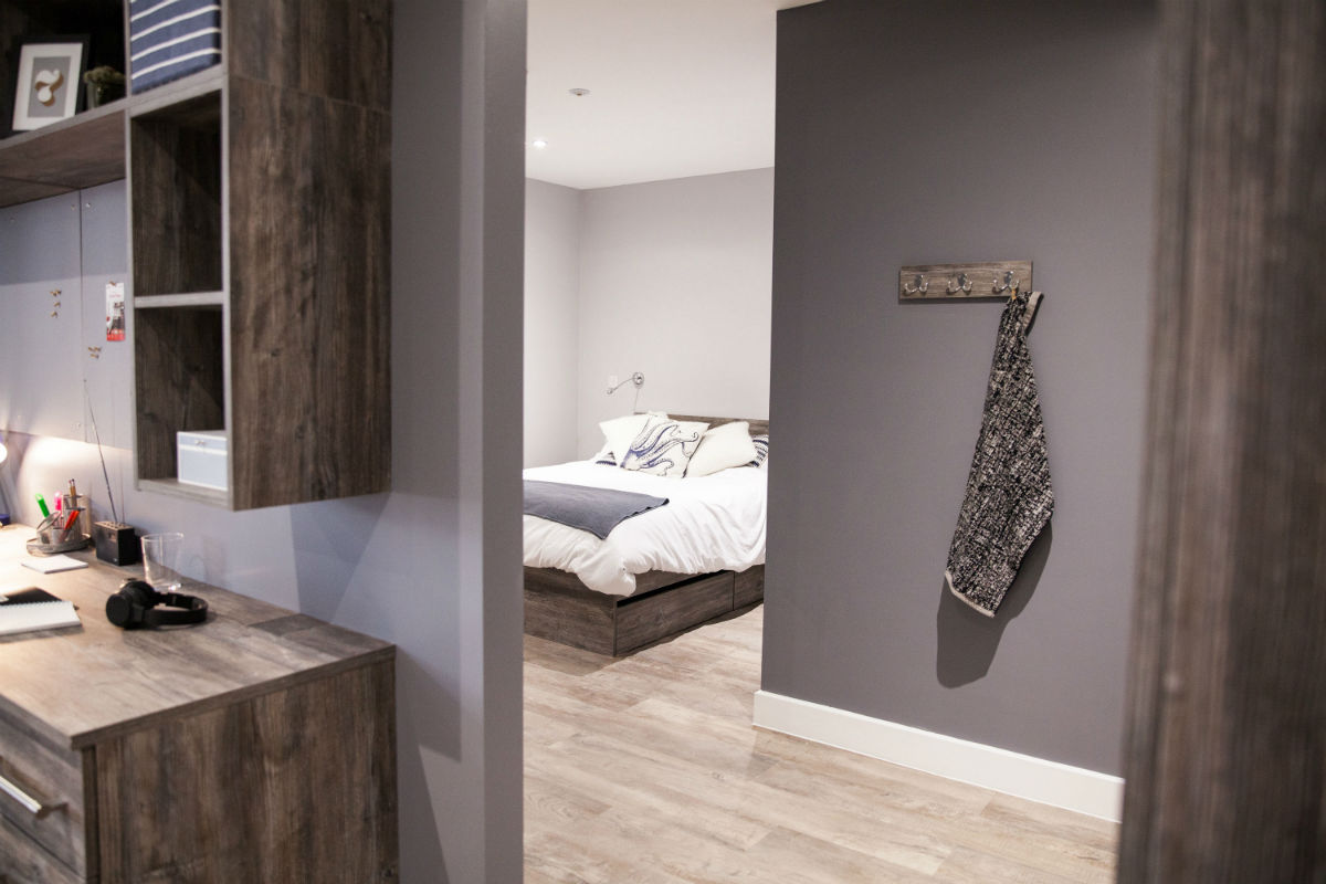 One Bed Apartment at Crown Place student accommodation in Cardiff