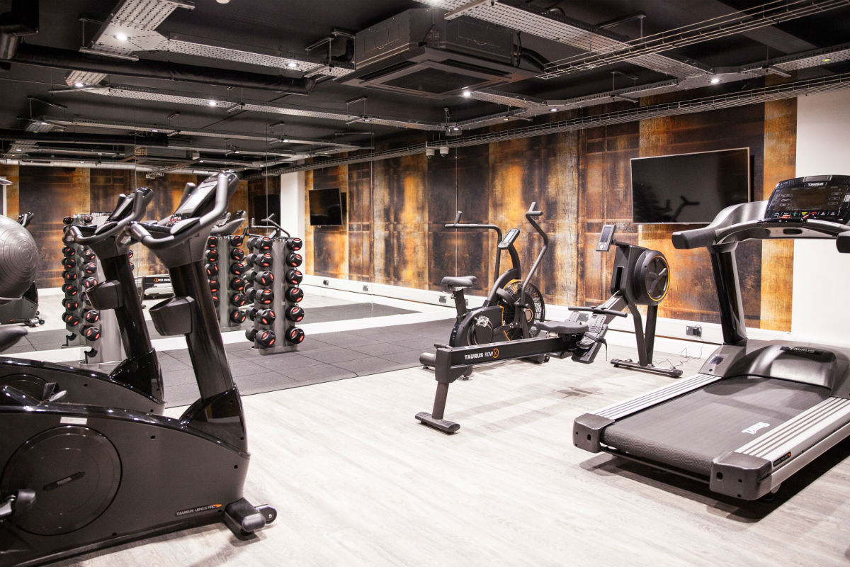 Gym at Crown Place student accommodation in Cardiff