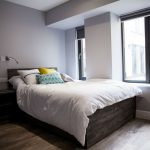 Studio room at Crown Place student accommodation in Cardiff