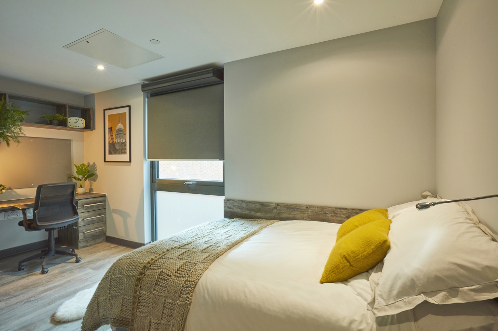 En-suite Cluster Bedroom at Crown Place student accommodation in Norwich