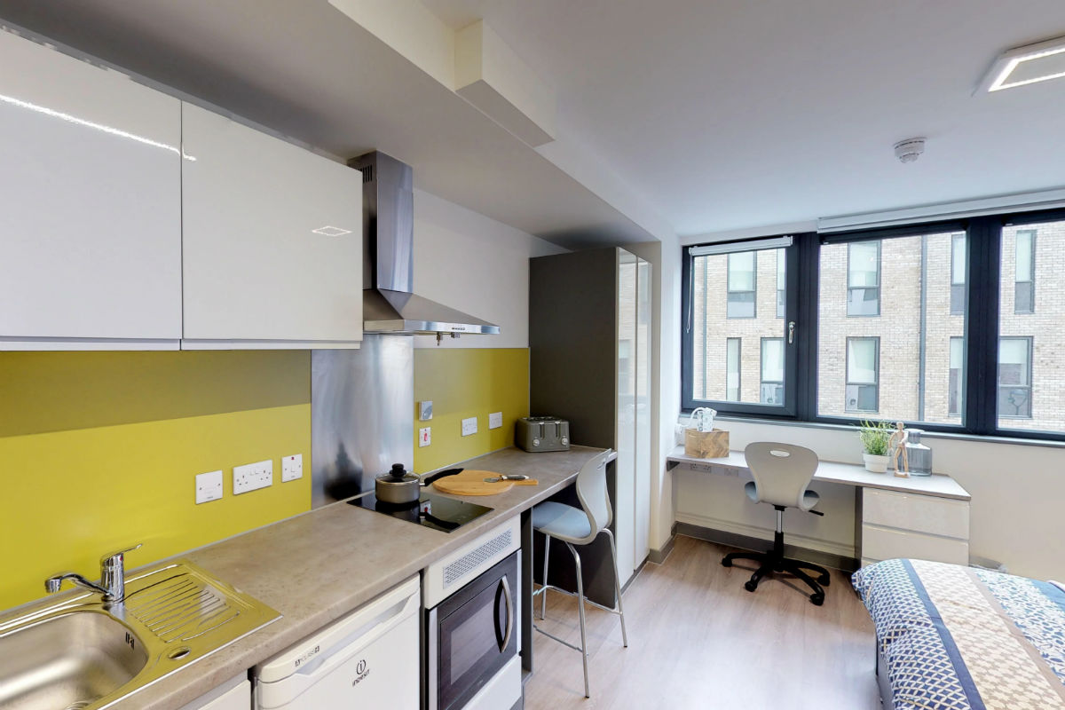 Studio room at Capital House Student Accommodation in Southampton