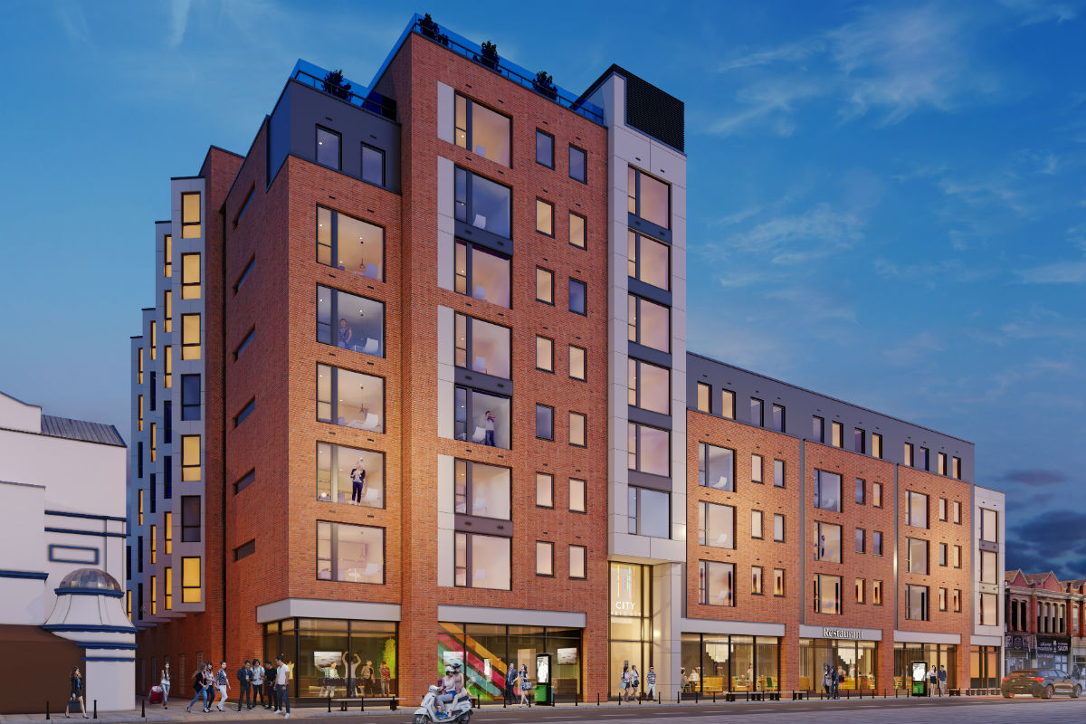 External photo of City Heights student accommodation in Cardiff