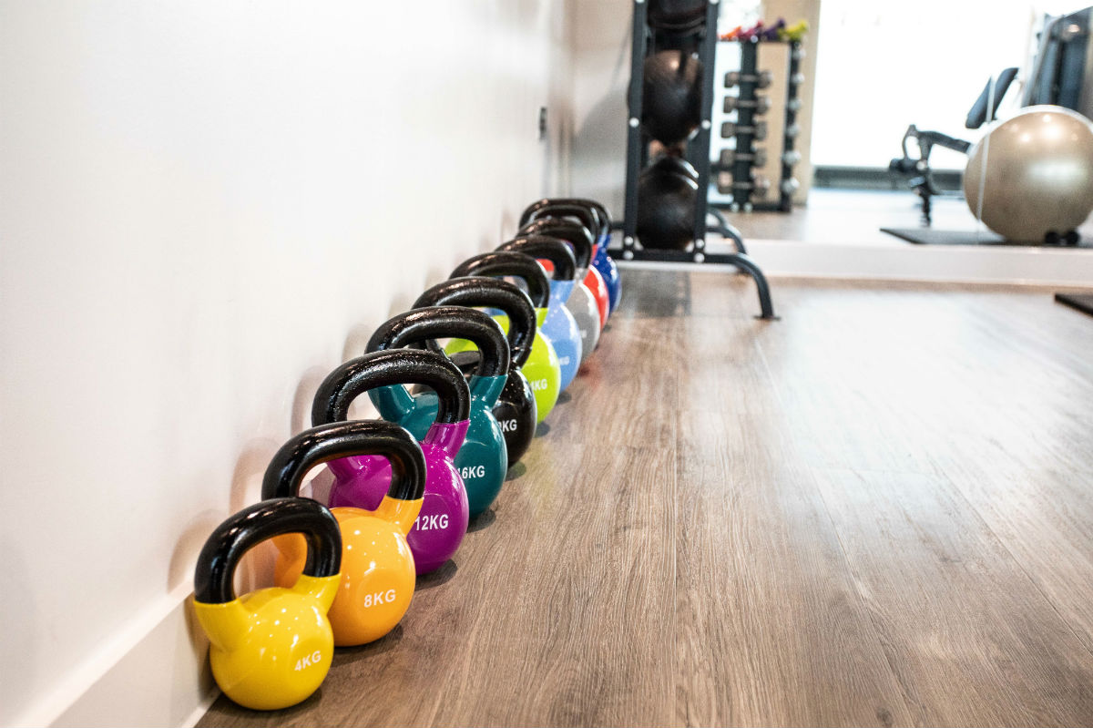 The gym in Palamon Court, student accommodation in Canterbury