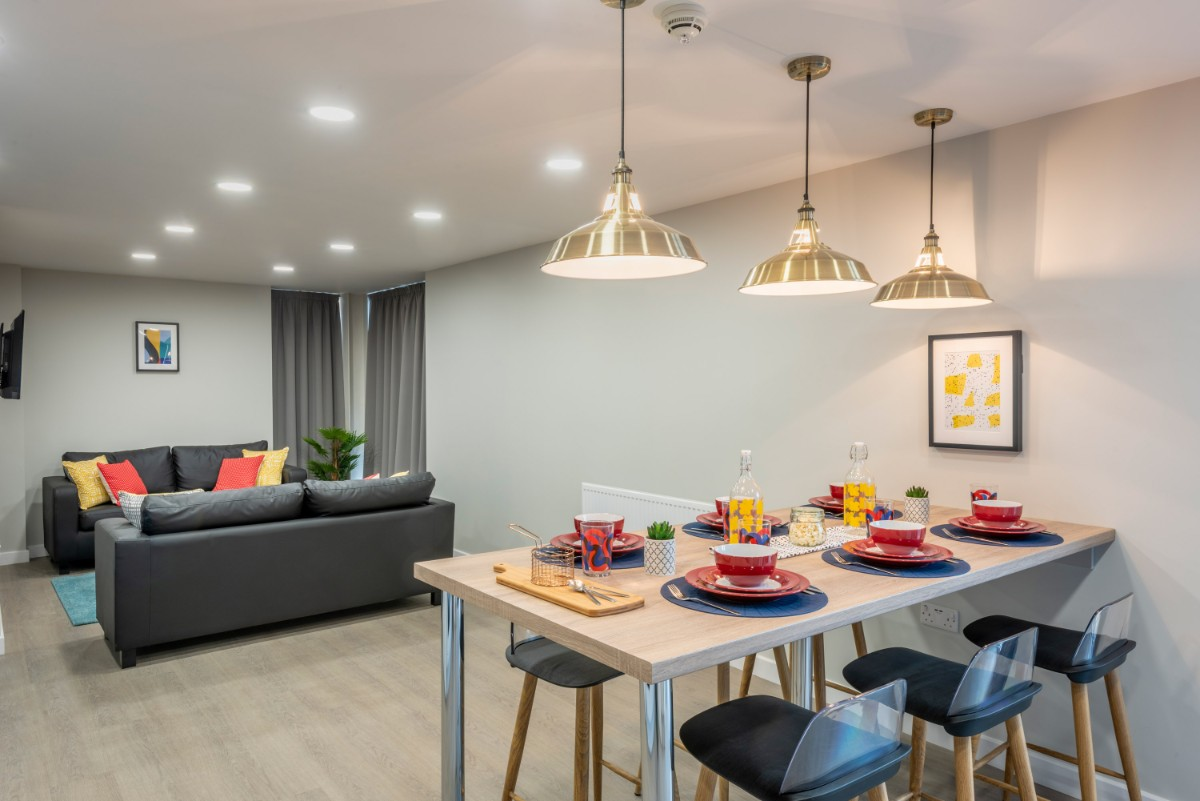 Communal room at The Coal Yard student accommodation in York