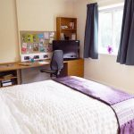 Accessible en-suite room at The Sidings student accommodation in Penryn