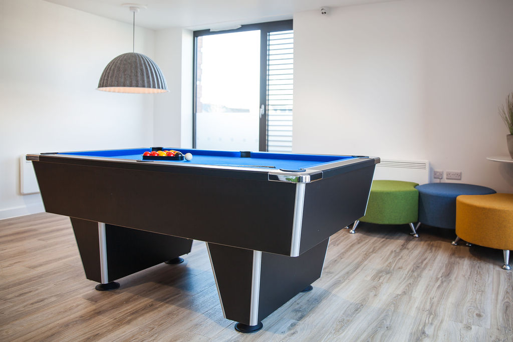 Communal area at Atlas House student accommodation in Exeter