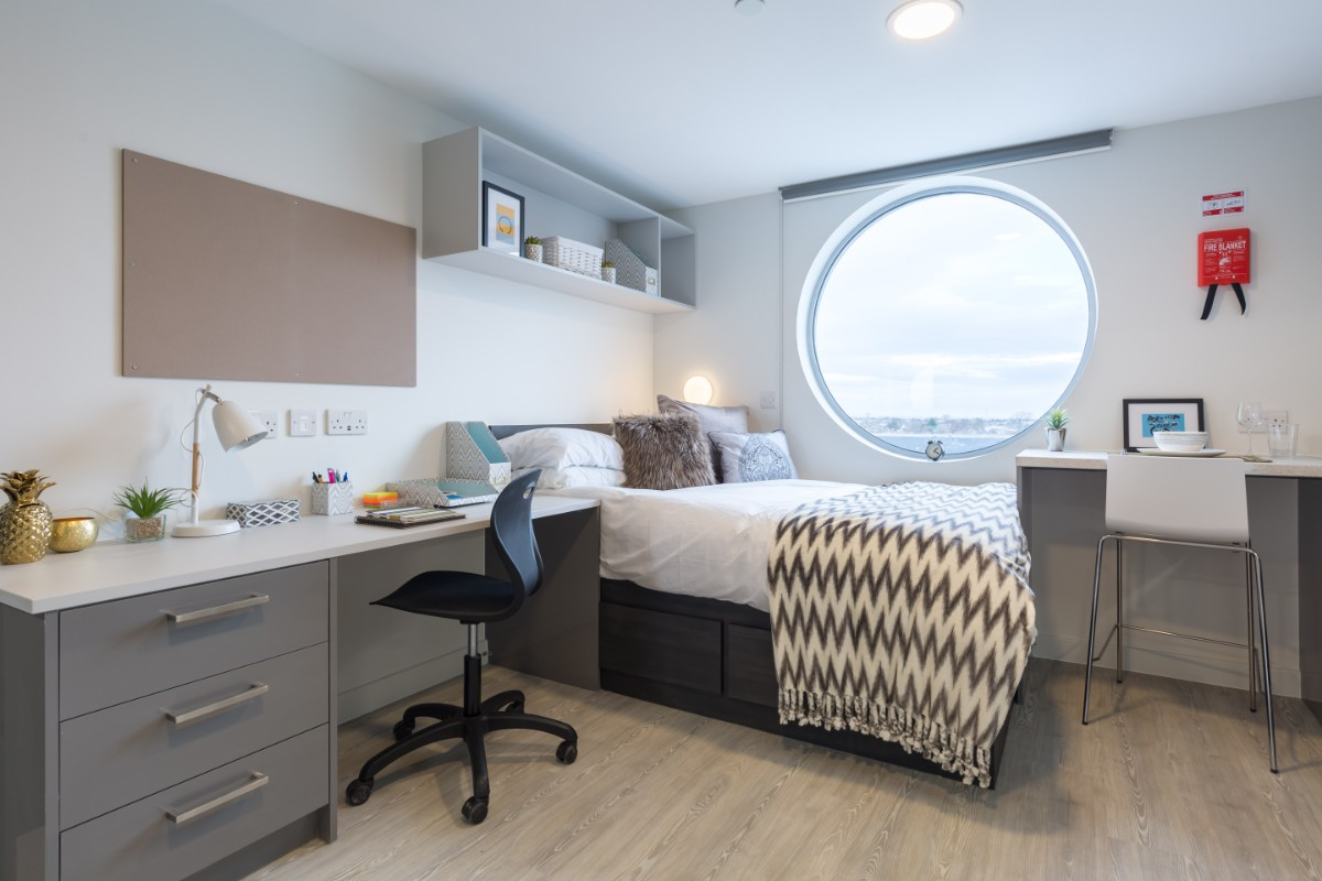 Club Studio at Livin student accommodation in Cardiff