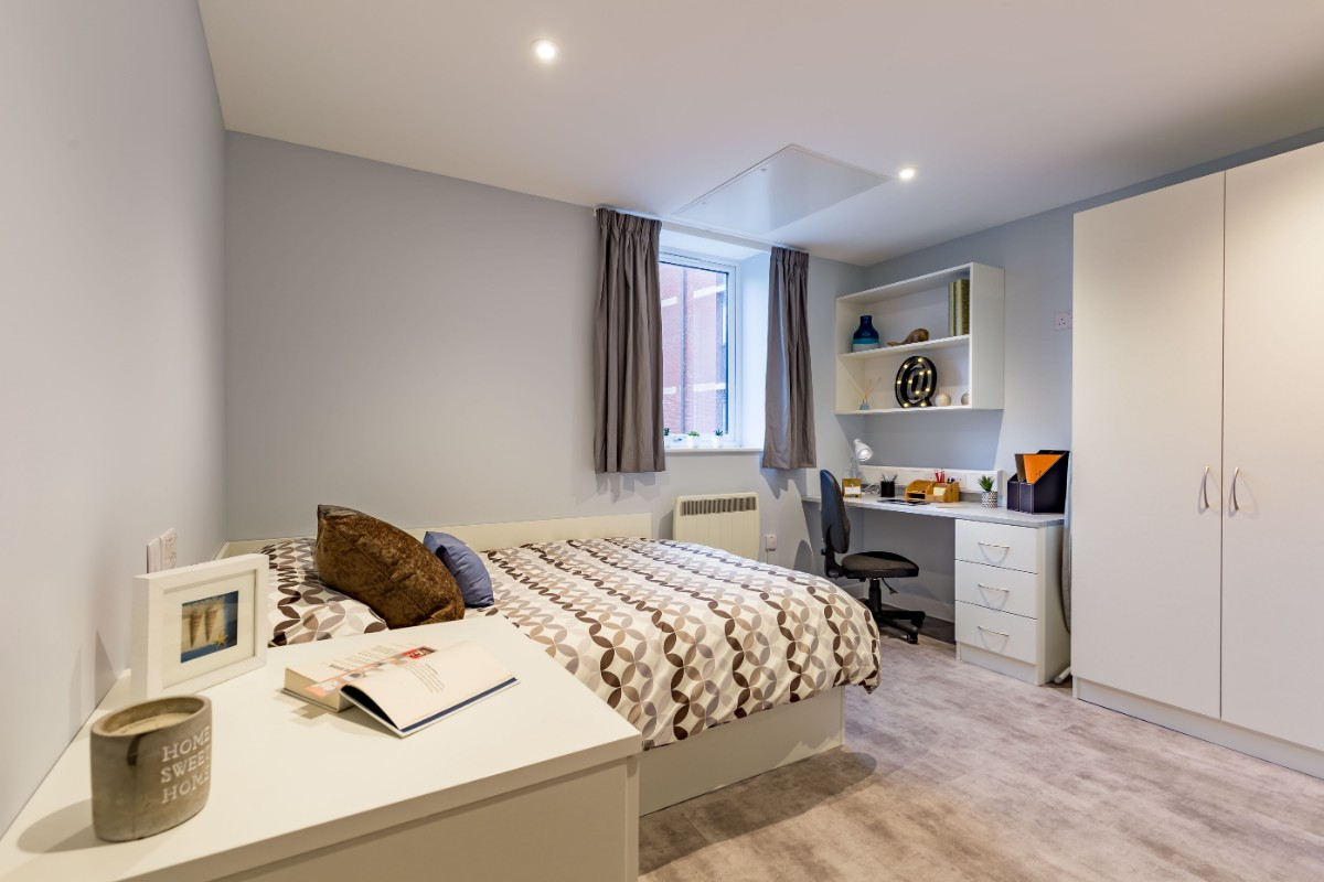 Studio at Mary Park House student accommodation in Plymouth