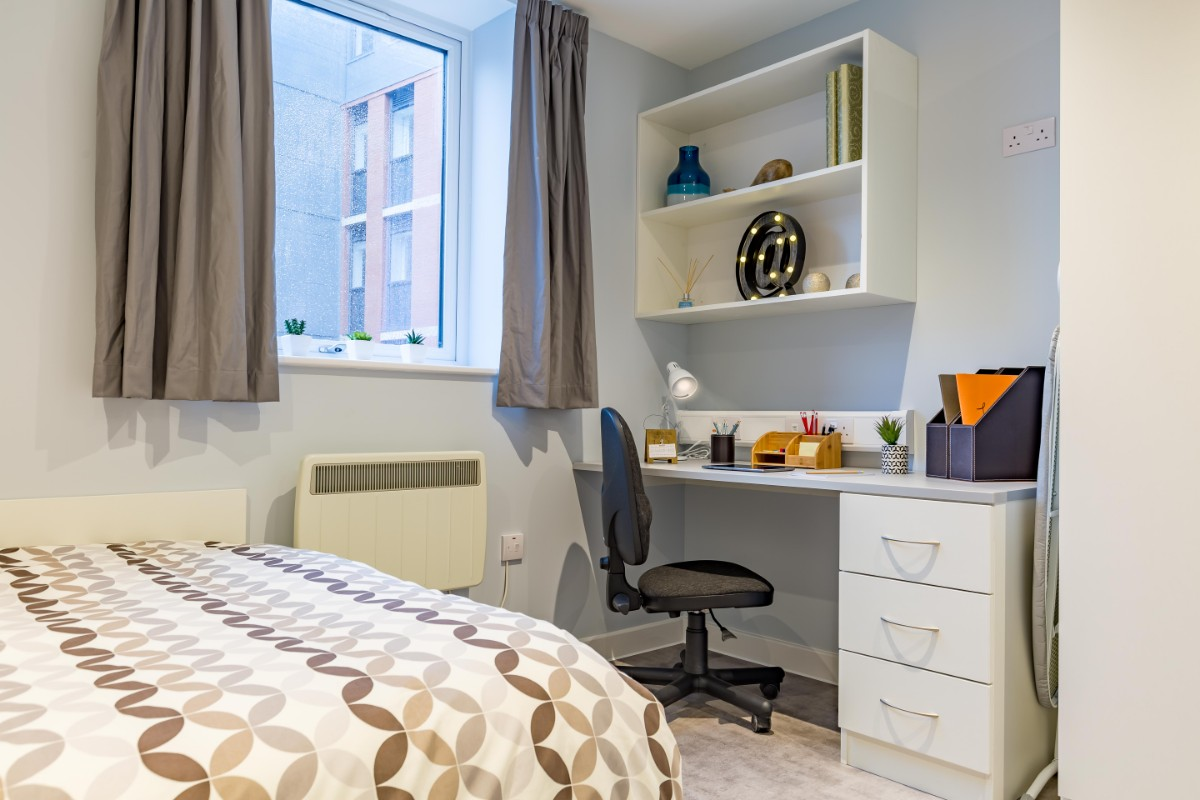 Studio room at Mary Park House student accommodation in Plymouth