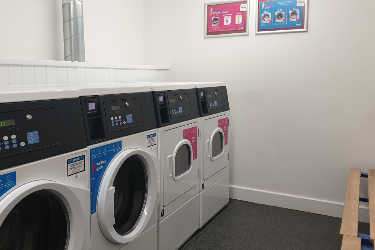 Laundry at The Rise student accommodation in Nottingham