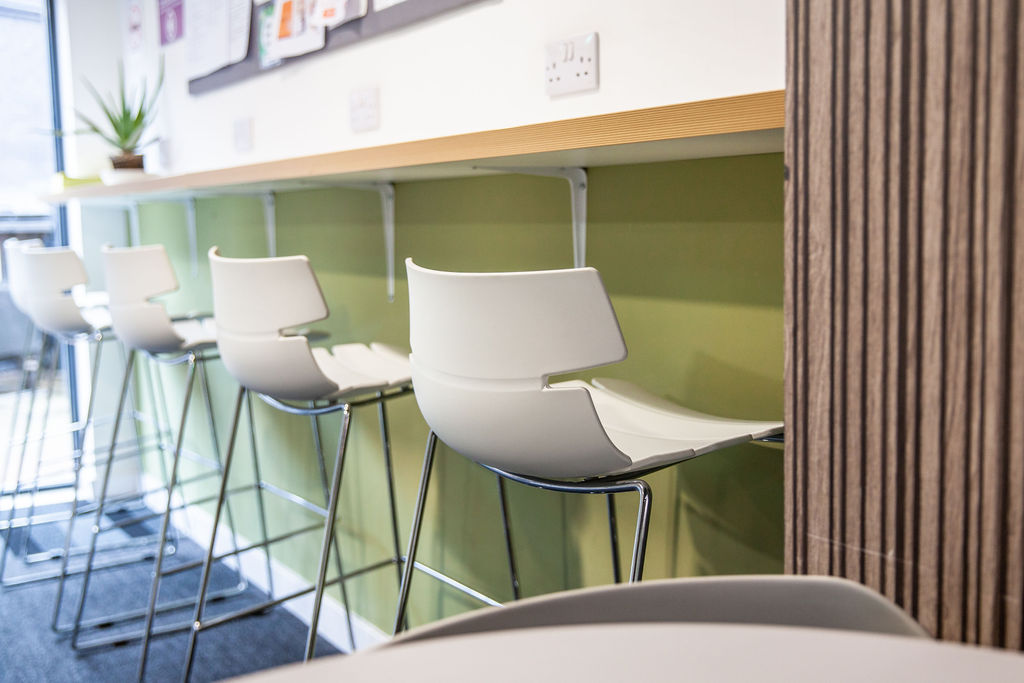 Communal area at York House in Leicester
