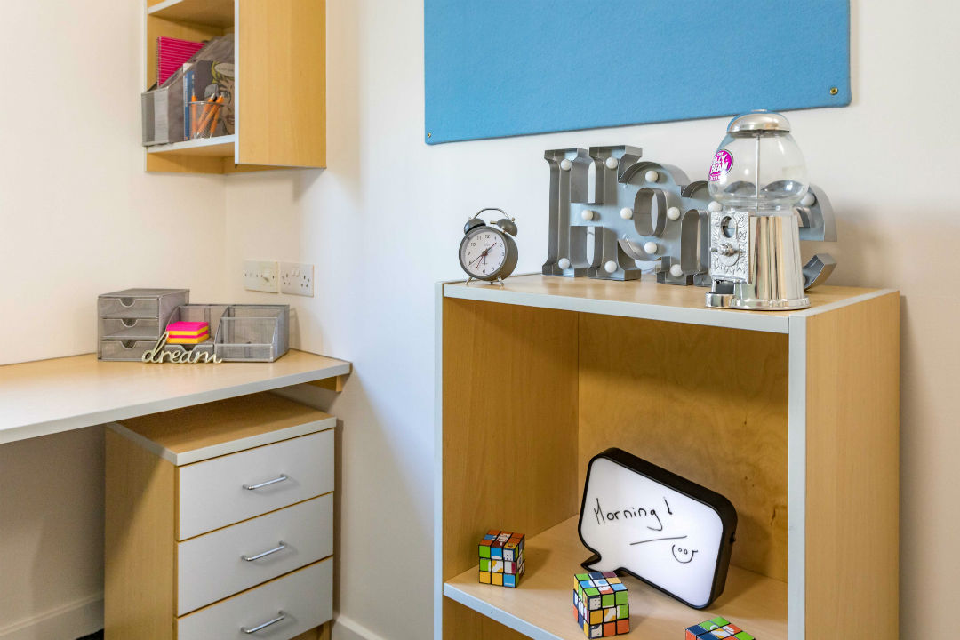 En-suite Plus room at Leighton Hall student accommodation in Preston
