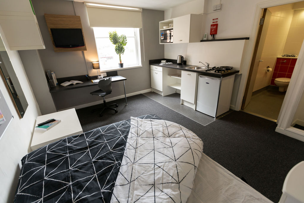 Bedroom at Mercia Lodge, Coventry