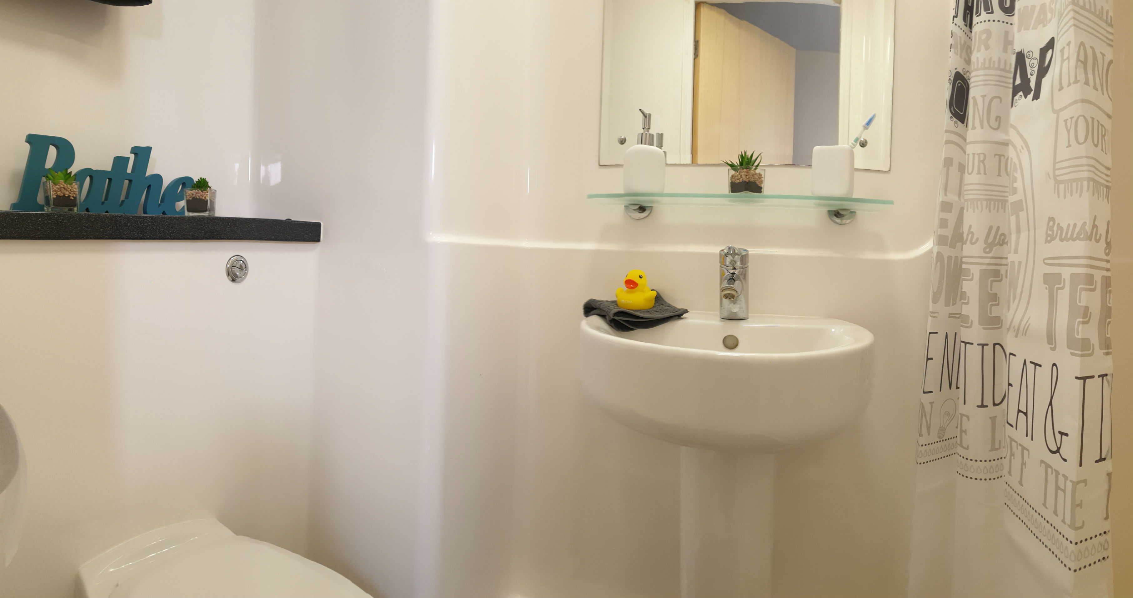 Standard en-suite at The Cube student accommodation in Loughborough