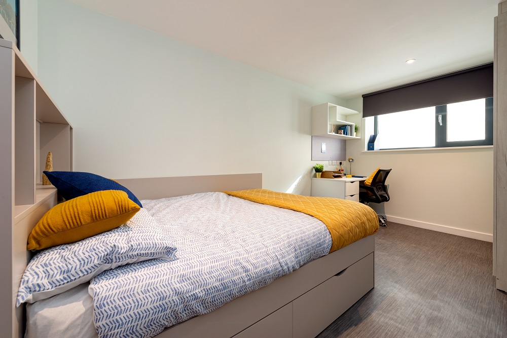 Falmouth student accommodation cluster en-suite room
