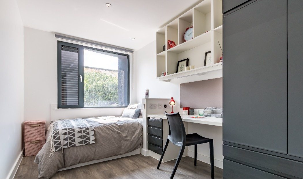 En-suite in Rhodaus Court, student accommodation in Canterbury